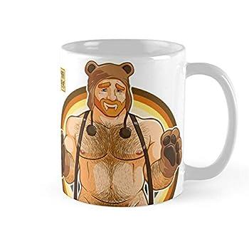 Adam Likes Hugs Bear Pride Ginger Edition Coffee Mug 11oz Ceramic Tea Cups