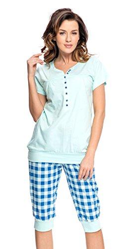 2 en 1 Maternité / allaitement 100% coton pyjama a 2 pieces 5063 (EU 36, Menthe)