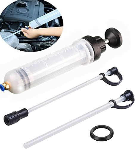 YUNNUO Extractor de líquido manual y rellenador de líquidos, jeringa de cambio de aceite, purga manual y relleno para automóviles, práctico extractor de líquido manual de 200 cm3