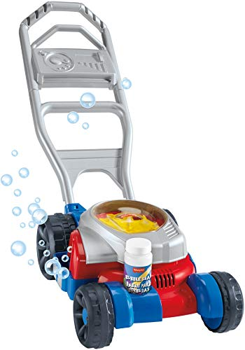 Fisher-Price Bubble Mower, outdoor push-along toy lawnmower for toddlers and preschool kids