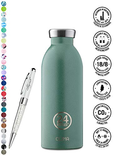 24 Bottles Gourde Clima 330 ml   500 ml   850 ml différentes couleurs avec Stylo à bille Lieblingsmensch 500 ml Kaki