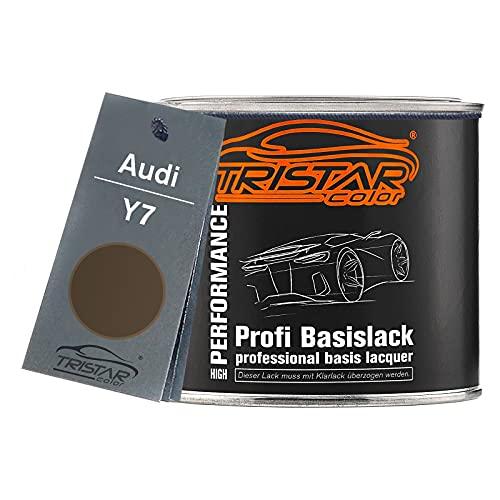 TRISTARcolor Autolack Dose spritzfertig für Audi Y7 Dakotagrau Metallic Basislack 0,5L