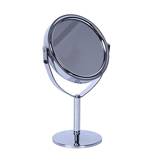 wlgreatsp Femmes Maquillage Rond Cercle Double Side Normal Magnifying Stand Style Miroir