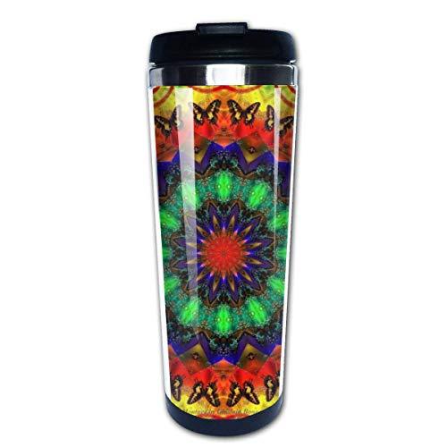Taza de café de viaje Caleidoscopio Taza de café con aislamiento de acero inoxidable Botella de agua deportiva 13.5 Oz (400 ml) MUG-3736