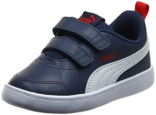 Puma Unisex Baby Courtflex V2 V Inf Sneaker, Blau (Peacoat-High Risk Red), 26 EU