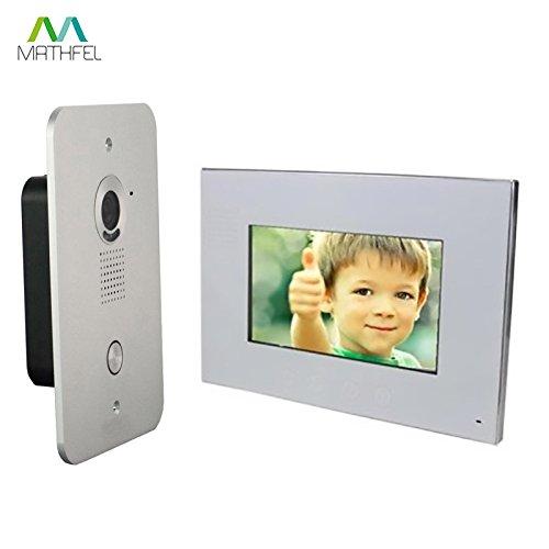 Preisvergleich Produktbild 2 Draht Video Türsprechanlage Gegensprechanlage 7'' Monitor Klingel Farb Kamera