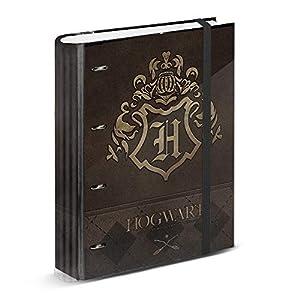 Harry Potter Gold-Carpesano 4 Anillas Papel Cuadriculado, Marrón 15