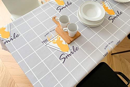 ZXCN Moderno Mantel Tipo Hule Encerado Rectangular Simple Modern Cotton and Linen Resistente Al Desgaste Impermeable Elegante Light Gray 130×180cm