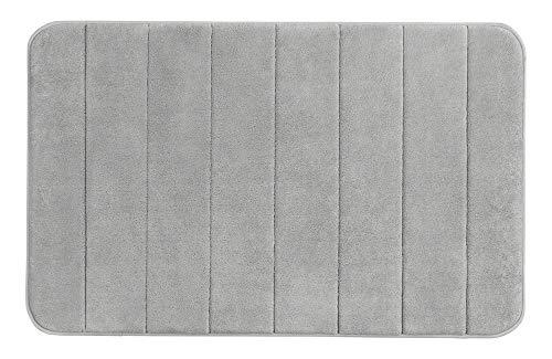 WENKO Badteppich Memory Foam Stripes, Light Grey