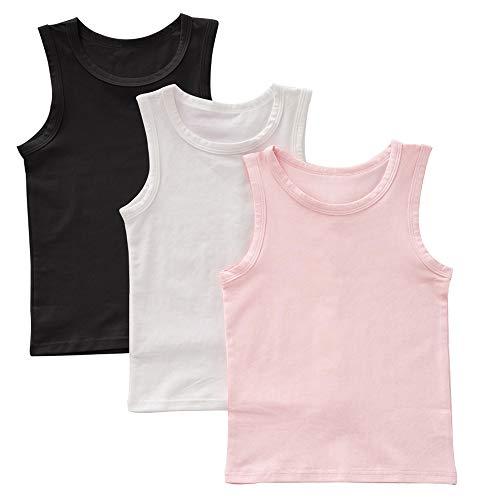 benetia Baby Girls Undershirts Kids Tanks Tops Cotton (3/Pack) Size 2t