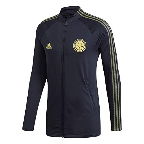 adidas 2020-21 Colombia Anthem Jacket - Navy-Yellow L