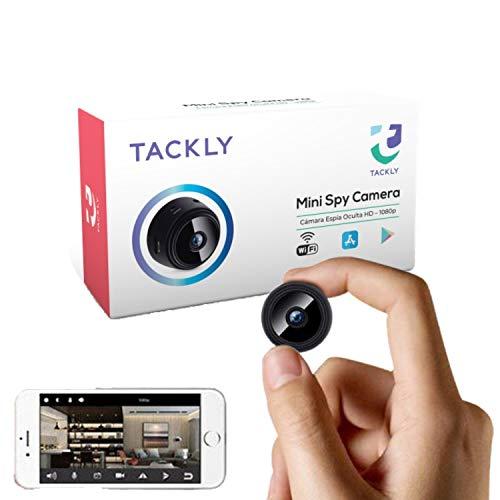 Cámara espía Oculta HD 1080p - Mini cámara espía WiFi para Ver en el móvil - Vigilancia camuflada con Sensor de Movimiento y visión Nocturna