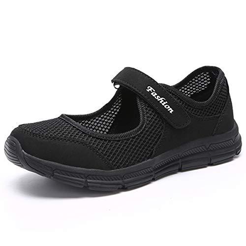 [JOINFREE] ナースシューズ レディース 疲れにくい 通気性 スニーカー 妊娠中の女性の靴 春夏 ママシューズ ブラック 23.5cm