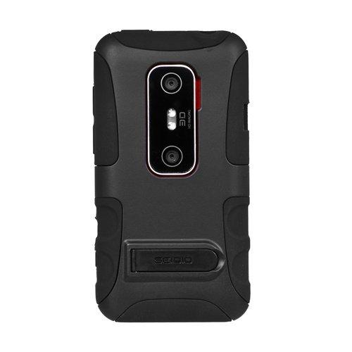 Seidio CSK3HEV3DK-BK DILEX Schutzhülle mit Ständer für HTC EVO 3D, Schwarz