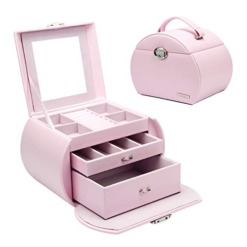 Homde Girls Jewelry Box Pink...