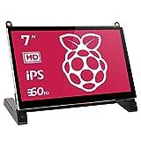 EVICIV【2021進化版】 ディスプレイ 7インチ Raspberry Pi用 モニター IPSモニター 液晶小型ディスプレイ 全視野178° 内蔵スピーカ HDMI ラズベリーパイ1/2/3 ModelB/A+/B+/BB/Black Banana Pi/Windows7/8/10/スイッチ/カメラ/など対応 日本語マニュアル付き 終身品質保障