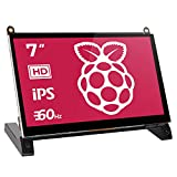 cdisplay 7' Touchscreen Monitor for Raspberry Pi, 1024X600 HD Game Monitor with Built-in Dual Speakers for Raspberry Pi 4 3 2 Zero B+ Model B Xbox PS4 iOS Windows 7/8/10