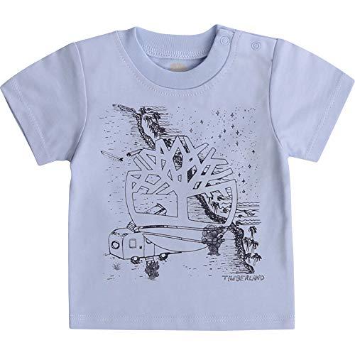 Timberland T-Shirt en Coton avec imprimé Bebe Couche Azur 9MOIS