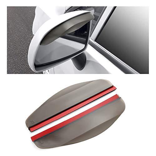 Piaobaige 2 Pieces Car Rear View Mirror Sun Visor Mirror Rain Visor Mirror Universal Rain Eyebrow Visor Universal Auto Accessories