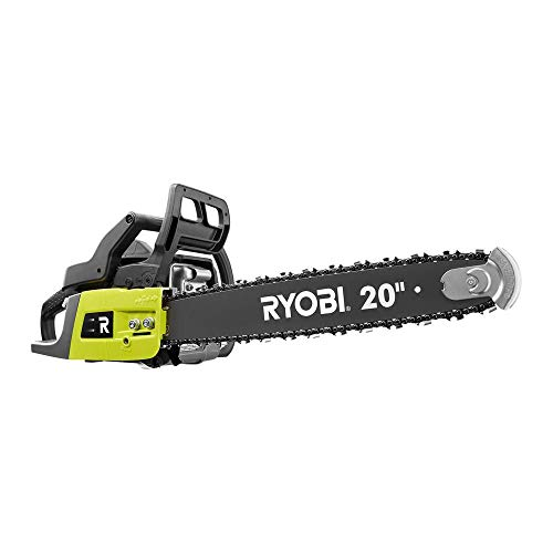 RYOBI RY5020 20 in. 50 cc 2-Cycle Gas Chainsaw with Heavy-Duty Case