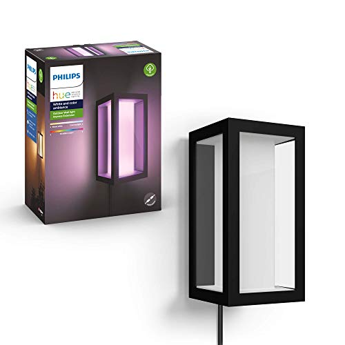 Photo of Philips Hue Impress White & Colour Ambiance LED Smart Outdoor Wall Light Extension, Compatible with Alexa, Google Assistant and Apple HomeKit