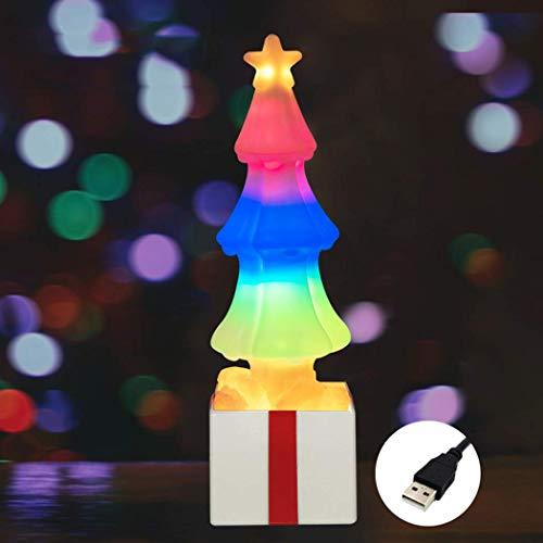 Wiederaufladbar Christmas LED Lamp, WAWJ Nachtlichtprojektor,Weihnachts-Dekoration Geburtstag Valentinstag Geschenk Innenbeleuchtung