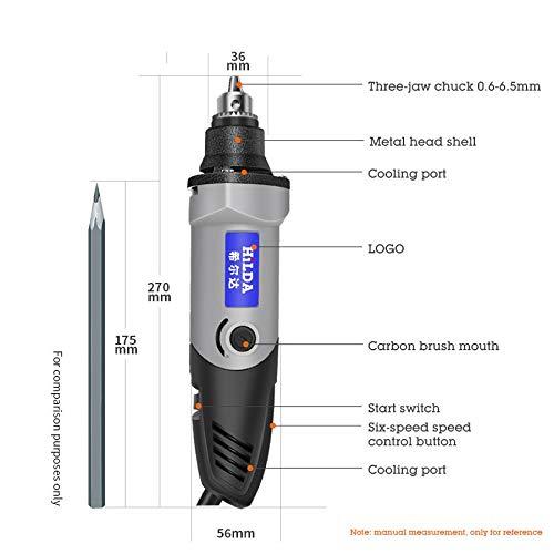 SCDZGJ Mini Bohrmaschine Mit 6 Position Variabler Geschwindigkeit Dremel 220 V 400 Watt Stil Präzisionswerkzeuge Mini Schleifen Elektrowerkzeuge