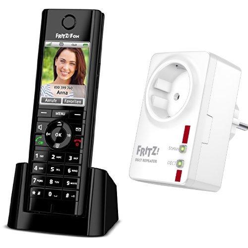 Set AVM FRITZ!Fon C5 DECT-Komforttelefon + AVM FRITZ!DECT Repeater 100