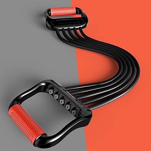 Chest Expander 5-Fach Verstellbarer,für Arm Muskeltrainer das Fitnessstudio Ideal zur Stärkung und Entwicklung der Muskulatur an Brust