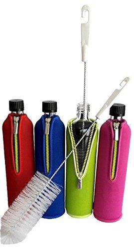 Flaschenbürste zur Reinigung von Edelstahl und Glas Trinkflaschen