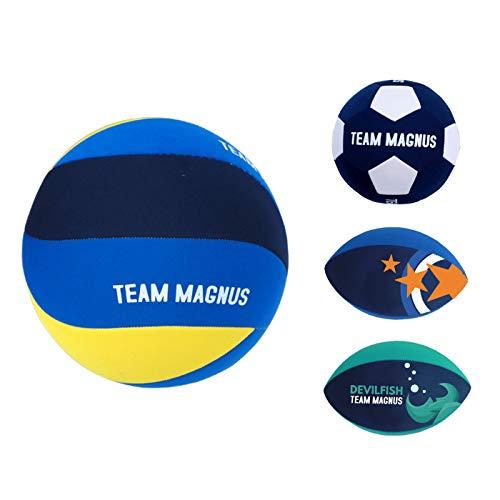 Team Magnus Beach Volleyball, Rugby Ball Strand, Strandfußball - salzwasserfester, wasserabweisender Spielball in Neopren