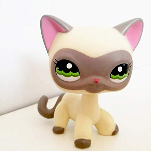 FINIMY Pet Shop Toys Lps Toy Littlest Pet Shop Toy Rare Standing Short Hair Cat White Pink Black Dog Dachshund 1116