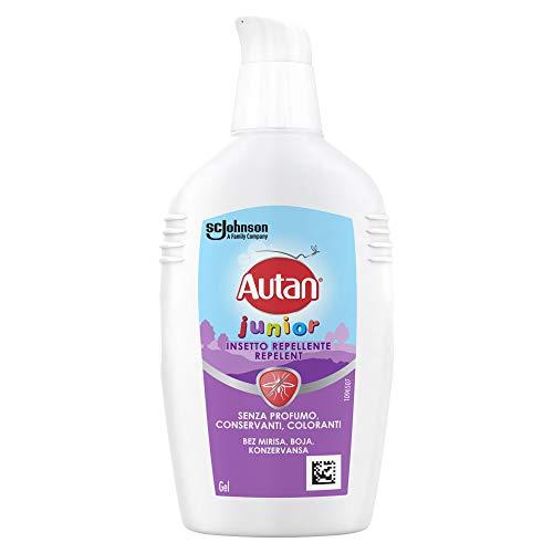 Autan Junior Gel, per Bambini oltre 2 Anni, Insetto Repellente e Antizanzare, 1 Confezione da 100 ml, Senza Profumo, Dermatologicamente Testato