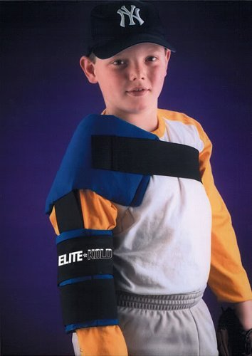 Elite-Kold Authentic Sports Shop Youth/Women's Shoulder/Arm Ice Wrap for Baseball/Softball Pitchers (Elastic Straps for Universal Fit)