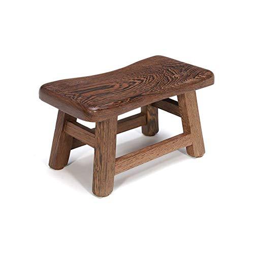 Barkruk, barkruk, zitkruk, zitkruk, zitkruk voor douchekruk voor trappenkruk, kip, landelijke zitbank van onbehandeld massief hout, eenvoudige retro bank (kleur: walnootmaat