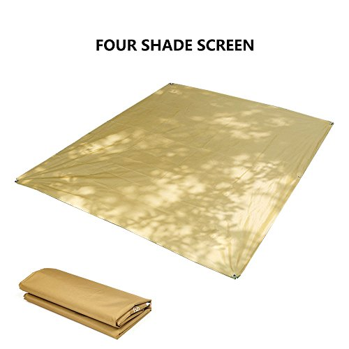 Haihuic 180 x 145 cm Carré Sun Ombre Voile Canopy Auvent Abri Tissu - UV Block Résistant à l'eau - Extérieur Pergola Jardin Pergola Fenêtre Carport