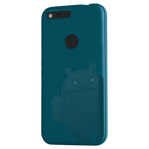 CruzerLite Androidified A2 TPU and Carbon Cover Case for Google Pixel XL - Teal