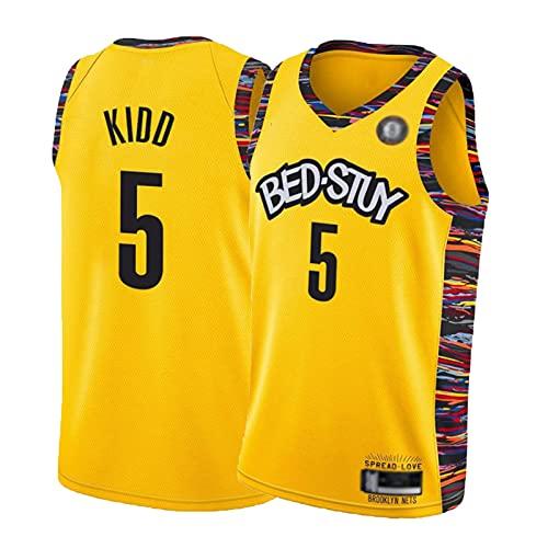 GJKL Nèts # 5 Kìdd Jersey, 2021 Nuevo Hombres Baloncesto Jersey Juventud Adultos Chaleco Sin Mangas Chándal Camisa M