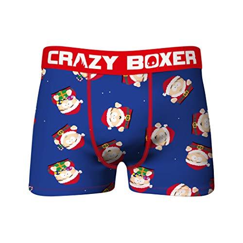 Crazy Boxers South Park Cartman Santa All Over Print Herren Unterwäsche Boxer Briefs Gr. X-Large, blau