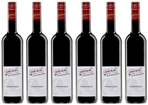 Weinmanufaktur Schneiders Dornfelder Rotwein 2018 Feinherb (6 x 0.75 l)