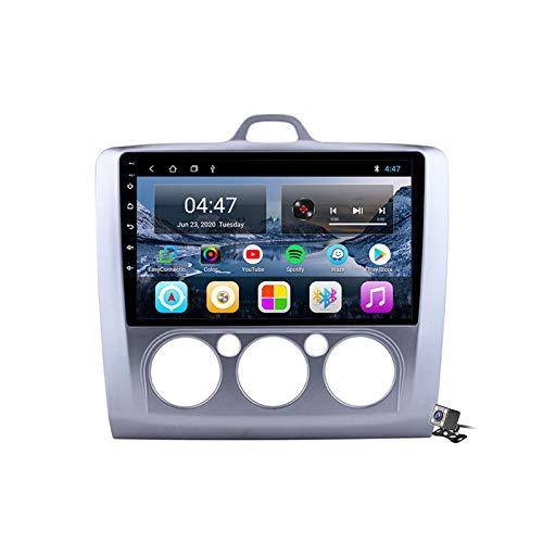 Buladala Android 10 Autoradio Stereo GPS Navigatore 2 DIN con 9' Schermo per Ford Focus 2 Mk2 2004-2011 Supporto FM AM RDS DSP/Controllo del Volante/Carplay Android Auto/BT Vivavoce,Manual,M300