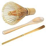 DaMohony Juego de 3 cucharas de bambú para preparar té Matcha