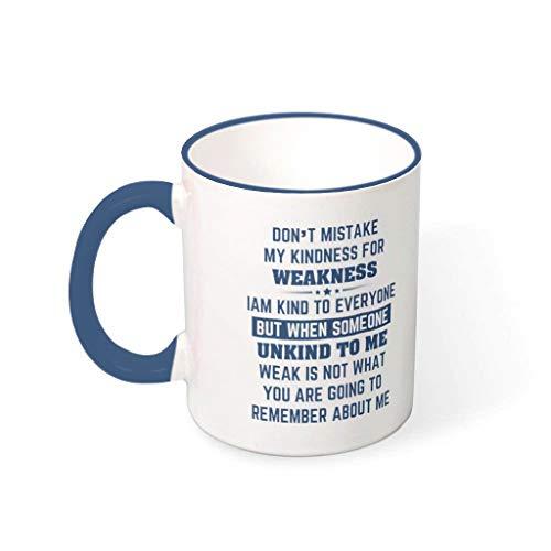 Huffle-Pickffle Tazas de café con texto en alemán 'No confundir mi calidad', taza de cerámica duradera, retro, linda, apta para Lounge Midnight Blue 330 ml