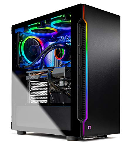 Skytech Shadow 3.0 Gaming PC Desktop - AMD Ryzen 7 3700X 3.6GHz, RTX 3060 Ti 8GB GDDR6, 16GB DDR4 3000, 1TB NVME, B550 Motherboard, 600W Gold PSU, AC WiFi, Windows 10 Home 64-bit