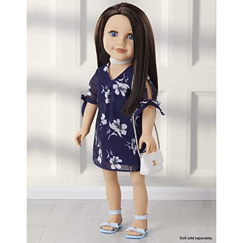 Journey Girls 18' Doll Fashion Set Blue & White Floral Dress - Amazon Exclusive