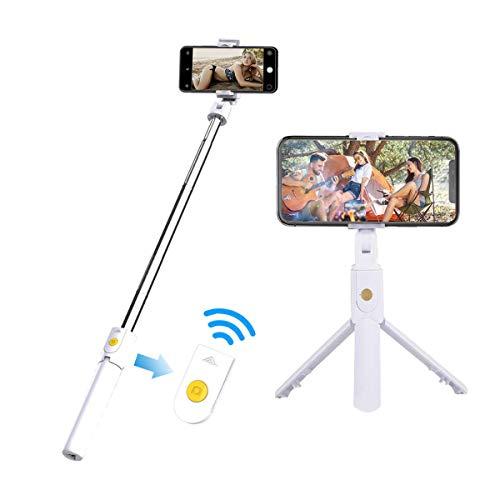 Palo Selfie Stick Trípode para Mobil con Bluetooth, Mini Extensible 3 en...