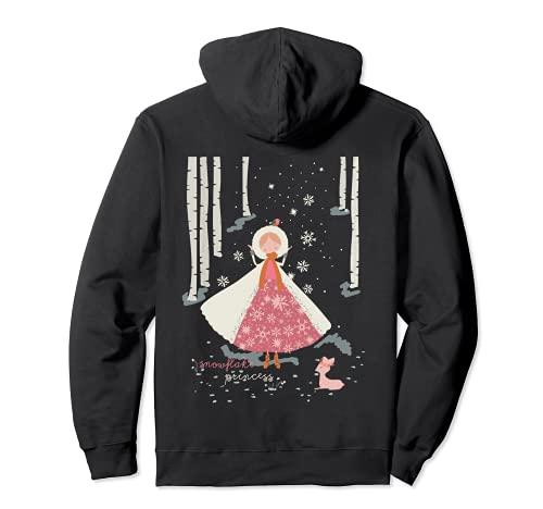 Copo de nieve Princesa Fawn Navidad Vacaciones Temporada de Sudadera con Capucha