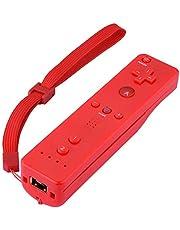 Sorand Controlador Remoto para Wii, Controlador de Juegos para Nintendo Wii/Wii U, Mando a Distancia con Funda de Silicona y Muñequera para Personas de Todas Las Edades(Rojo)