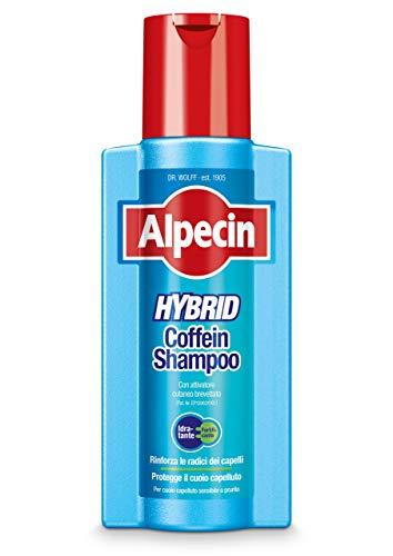 Alpecin Hybrid Coffein Shampoo, 1 x 250 ml – Adatto per il cuoio capelluto sensibile o prurito, è lo shampoo alla caffeina che previene la caduta dei capelli.