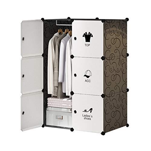 Wardrobe Simple de plástico de la asamblea del hogar Combinación de la economía extraíble de la imitación de madera del almacenamiento